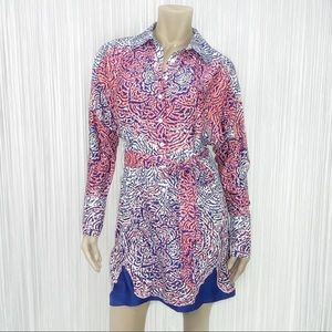 GUESS BY MARCIANO Floral Print Long Sleeve Dress M